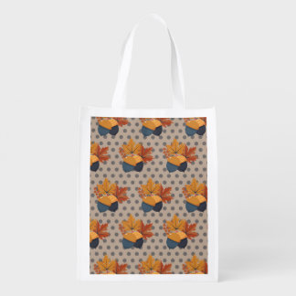 Niedliche Herbst-Eichel-Muster Wiederverwendbare Einkaufstasche