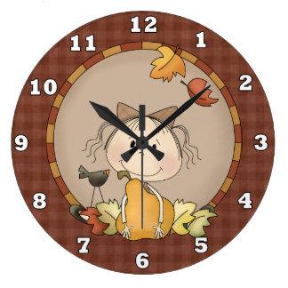 Niedliche Herbst-Wand-Uhr Große Wanduhr