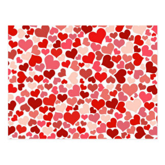 Niedliche Herzen Postkarte