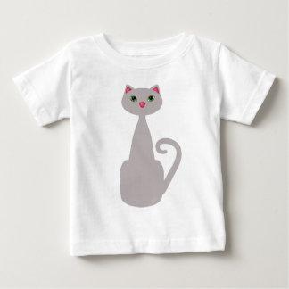 Niedliche hohe graue Katze Baby T-shirt