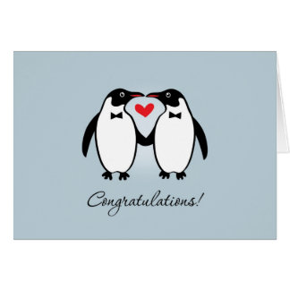Niedliche homosexuelle Penguins, die Glückwünsche Grußkarte
