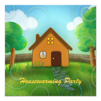 Niedliche Housewarming-Party Einladung Quadratische 13,3 Cm Einladungskarte