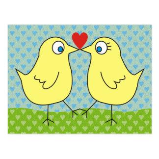 Niedliche Hühner Liebe-in den Postkarte