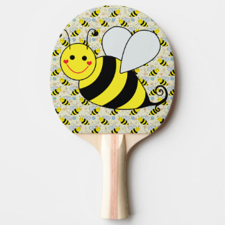 Niedliche Hummel-Biene mit Muster Tischtennis Schläger