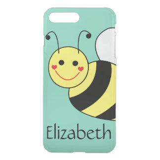 Niedliche Hummel-Biene personalisiert iPhone 8 Plus/7 Plus Hülle