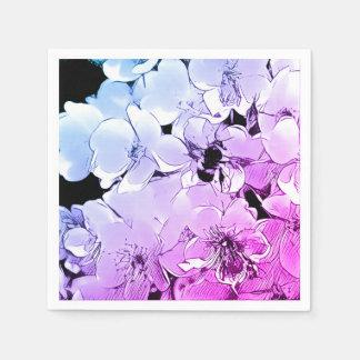 Niedliche Hummel-Biene u. blaue/lila Serviette