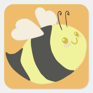 Niedliche Hummel-Bienen-Aufkleber Quadratischer Aufkleber