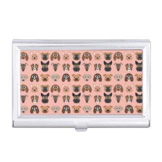 Niedliche Hunde auf Rosa Visitenkarten Etui
