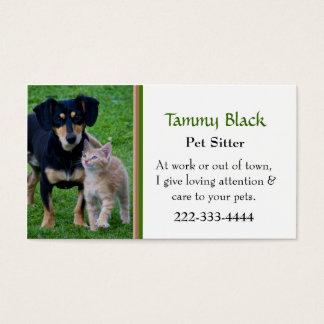 Niedliche Hunde-u. Katzen-Foto-Haustier-Sorgfalt Visitenkarte