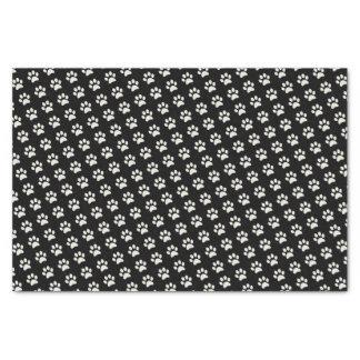 Niedliche Hundekatzen-tierisches schwarzes Seidenpapier