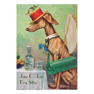 Niedliche Hundesitter-/Hundewanderer-Vintage Jumbo-Visitenkarten