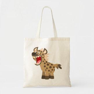 Niedliche hungrige Cartoon-Hyäne Tragetasche