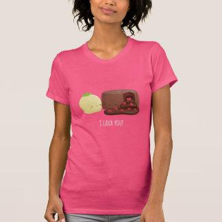 Niedliche i-Lava Sie Schokoladen-flüssiges T-Shirt