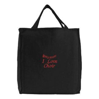 Niedliche i-Liebe-Chor-Taschen-Tasche Bestickte Tragetasche