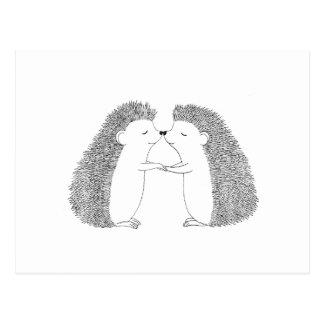 Niedliche I Liebe des Igels-Sie Postkarte