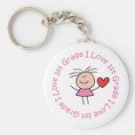 Niedliche i-Liebe-erster Grad Schlüsselanhänger