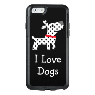 Niedliche i-Liebe-Hunde OtterBox iPhone 6/6s Hülle