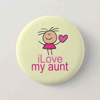Niedliche i-Liebe meine Tante T-shirt Runder Button 5,7 Cm
