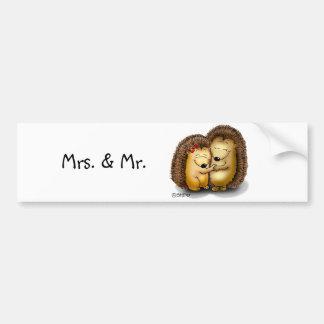 Niedliche Igels-Paare - Herr und Frau Customize Autoaufkleber