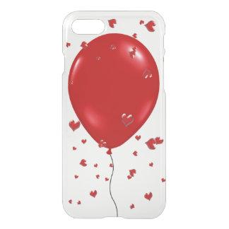 Niedliche iPhone 7 Fall-Roter Ballon und Herzen iPhone 7 Hülle