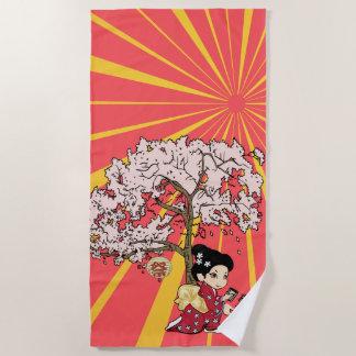 niedliche japanische inspirierte Kunst Strandtuch