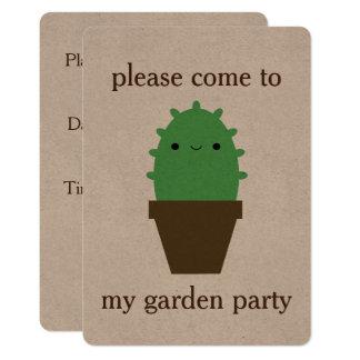 Niedliche Kaktus kawaii Pflanzeneinladung 12,7 X 17,8 Cm Einladungskarte