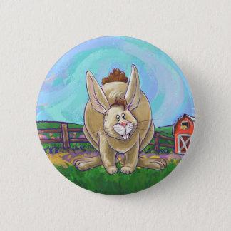 Niedliche Kaninchen-Tier-Parade Runder Button 5,1 Cm