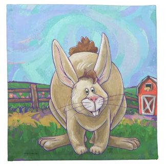 Niedliche Kaninchen-Tier-Parade Stoffserviette