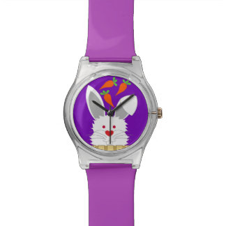 Niedliche Kaninchen-Uhr Uhr