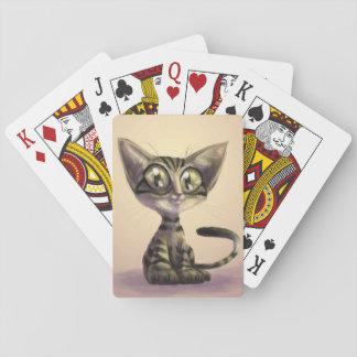 Niedliche Karikatur-Katzen-Spielkarten Spielkarten