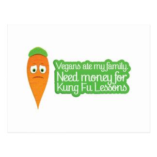Niedliche Karotte benötigt Geld avenge seine Famil Postkarten
