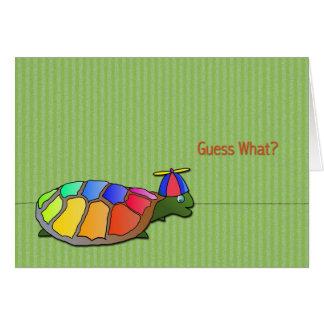 Niedliche Karte Schildkröte-April-Dummkopfs Tages