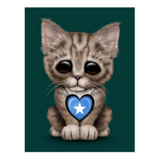 Niedliche Kätzchen-Katze mit dem Postkarte