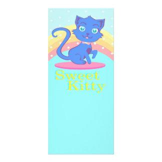 Niedliche Katze Gestell-Karte Werbekarte