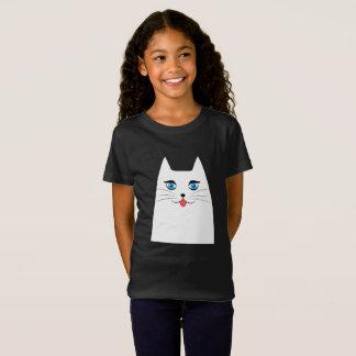 Niedliche Katze mit der Zunge, die heraus haftet T-Shirt