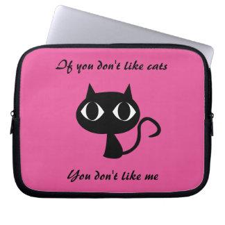 niedliche Katze zitierte Laptop-Hülse Laptop Sleeve