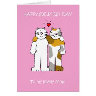 Niedliche Katzen der glücklichen süßesten Grußkarte