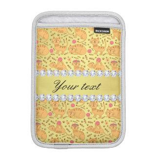 Niedliche Katzen-Imitat-Goldfolie Bling Diamanten iPad Mini Sleeve