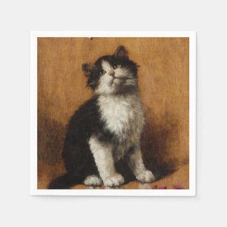 Niedliche Katzen-Malerei Serviette
