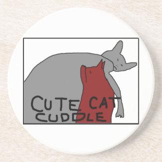 Niedliche Katzen-Umarmung Bierdeckel