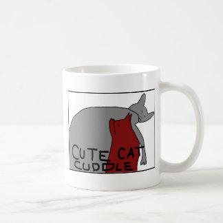 Niedliche Katzen-Umarmung Tasse