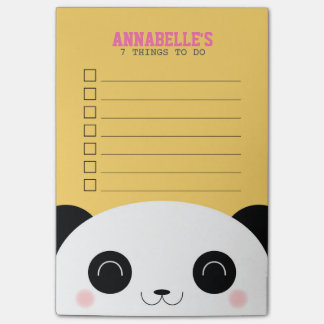 Niedliche Kawaii Panda-Gesichts-Kinder, zum der Post-it Klebezettel