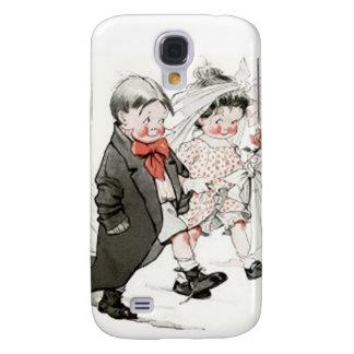 Niedliche Kinder, die den Hochzeits-März tun Galaxy S4 Hülle