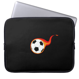 Niedliche Kinder feuern Fußball-Ball 15 Zoll Laptop Sleeve