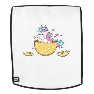 Niedliche Kindermädchen Unicorn-Ei-Ostern Rucksack
