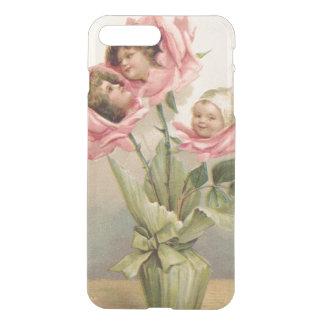 Niedliche Kinderrosa Rosen-Rose iPhone 8 Plus/7 Plus Hülle