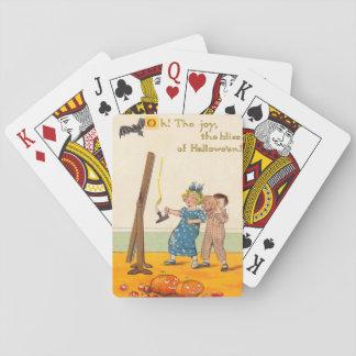 Niedliche Kinderstreich-Kürbislaterne Spielkarten