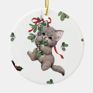 Niedliche Kitty-Keramik-Kreis-Verzierung Keramik Ornament