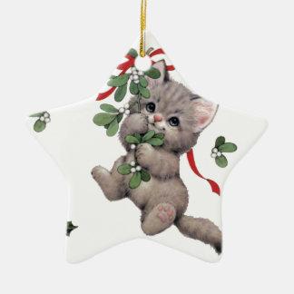 Niedliche Kitty-Stern Ceraminc Verzierung Keramik Ornament