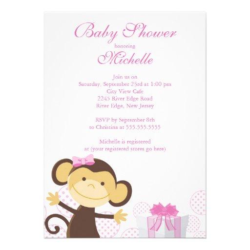 Niedliche kleine Affe-Baby-Duschen-Einladung